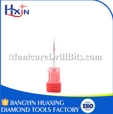 China Stainless Steel Shank Cuticle Nail Drill Bits For Thick Toenails HXH0108D supplier