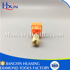 China Golden Anti Bacterial Manicure Drill Bits Ceramic Material For Nail Large Barrel supplier