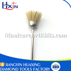 China Cleaning & Filling Teeth Equipment Nail Dust Brush With Felt Material 2.35mm Shank supplier