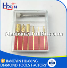 China Durable Carbide Nail Drill Bit Set , Electric Nail File Drill Bits 7 PCS / SET supplier